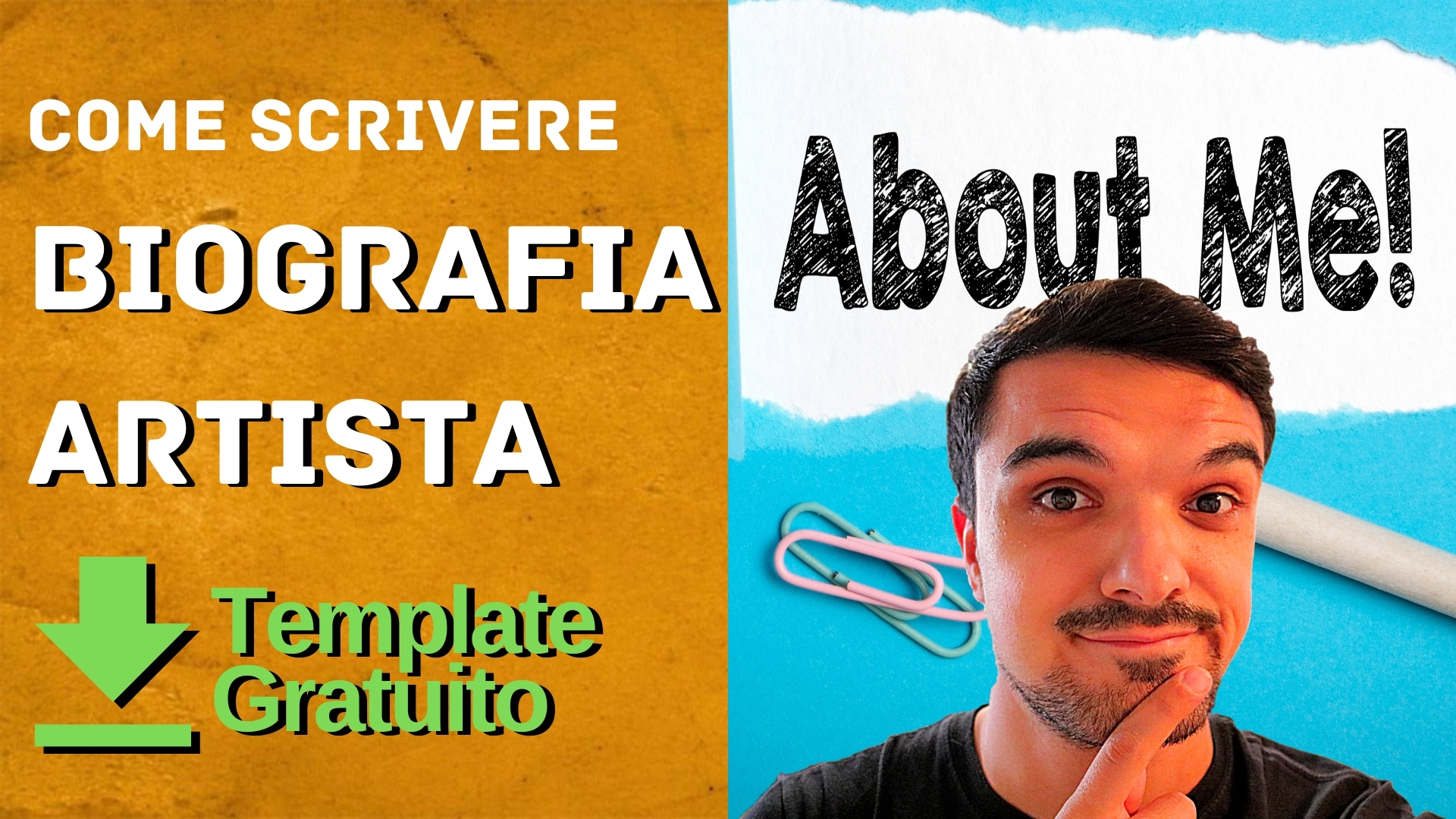 come scrivere una biografia artista copertina video youtube luca sammartino ls
